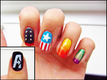 Avengers Inspired Nails by CharlotteMosey