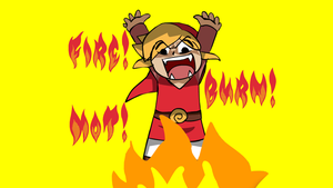 Pyromaniac Red Link Wallpaper by SoulxMystique