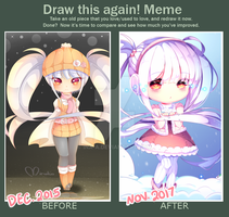 Before and After Meme by MiruukiiART