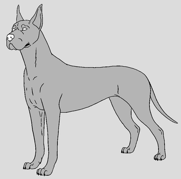 Dog Template - Great Dane by NaruFreak123-Bases