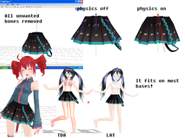 MMD Miku Skirt [DOWNLOAD] by 2sidestome