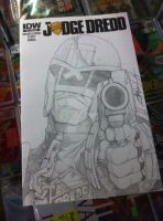 Judge Dredd sketch cover by steelcitycustomart