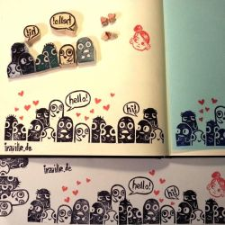 monster Stamps by Iraville