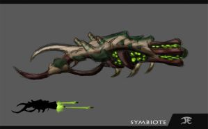 Warframe Fanart - Symbiote Weapon by Krion112