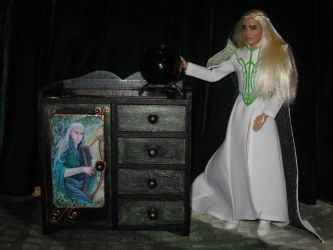 Thranduil's commode with magical crystal ball by Menkhar