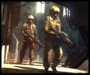 Soldiers speed by AndreeWallin