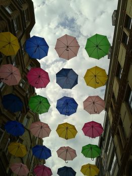 umbrella's at luxembourgh city by ninytje222