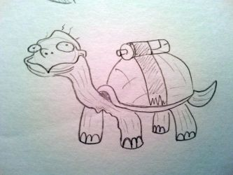 Battery Powered Turtle by Lexiathecat
