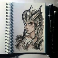 Instaart - Dragon Symmetra by Candra