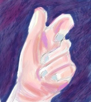 Pink Hand Study by Froggy-Spaztastic