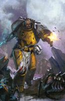 Imperial Fist Space Marine by DiegoGisbertLlorens
