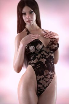 Gina in lace by FranPHolland