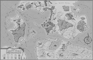 The Known World - RPG Commission Map by XianPryde