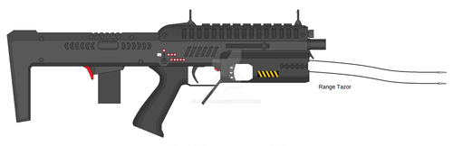 Police Force Rifle Idea with tazor .22 LR PDW by Artmarcus