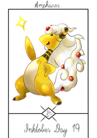 Inktober Day 19: A special Mega Ampharos by Steve-the-Lucario