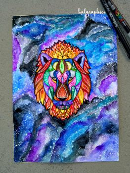Tribal Lion by KALgraphics