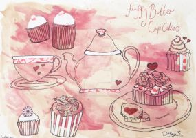 Tea and Cake Design 3 by poisonous-tears