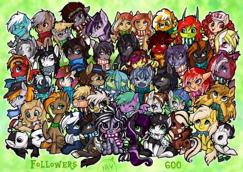 600 followers T by LimreiArt