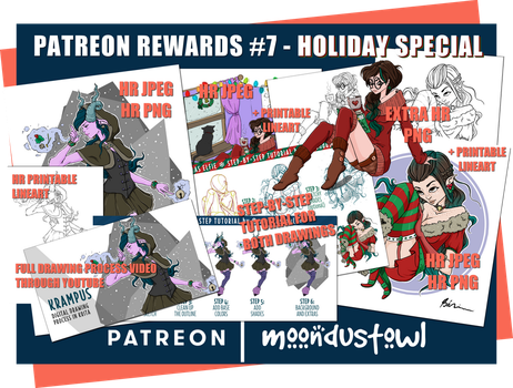 Patreon Rewards Pack #7 - Holiday Special by moondustowl
