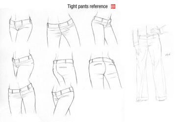Tight pants reference by randychen