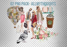 O2. PNG PACK. by allmythoughts
