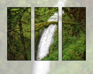 Triptych Falls by nomisdice