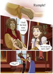 Rumbelle- Holding Hands by AngelQueen13