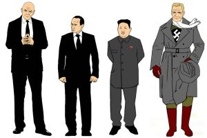 Axis of Evil model sheet by StevenEly