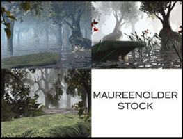 STOCK BG forest by MaureenOlder