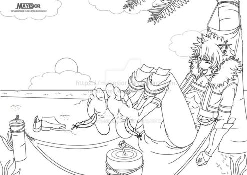 Bete loga two - Comission Lineart by MayEsior
