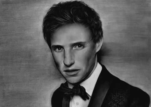 Watch me draw Eddie Redmayne! by KirstyPartridgeART