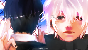 Shiro to Kuro : Kaneki by Zokurobi