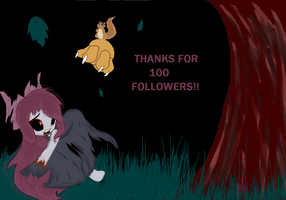 100 followers by AppleCider1412