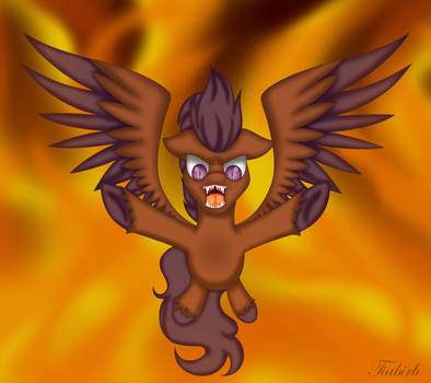 Beast from the Flames [Comm] by Tiabirb