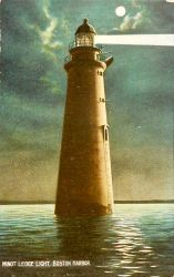 Lovers' Lighthouse - Boston Harbor by Yesterdays-Paper