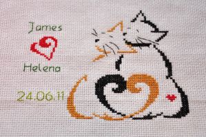 Wedding Sampler by VickitoriaEmbroidery