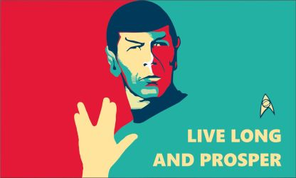 Star Trek Flag Spock Live Long And Prosper by OSFlag