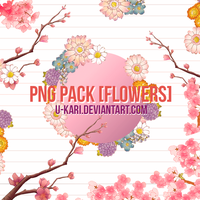 PNG PACK [FLOWERS] #2 by U-kari