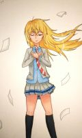 Kaori - Your Lie in April by drawingwolf17