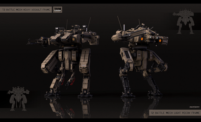 Medium mech modification kits by KaranaK