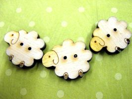 Sheeple buttons by Ideas-in-the-sky