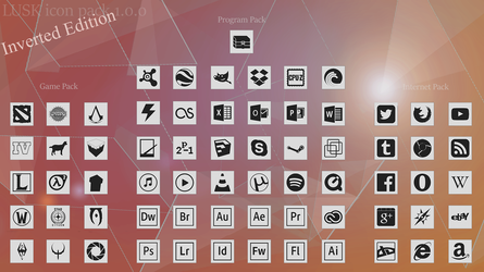 Lusk Iconpack  *Inverted Edition* by WyzzyMoon