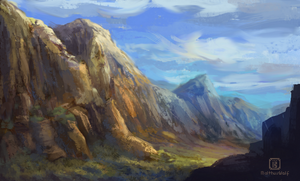 Daily sketch 4 - Valley by MalthusWolf