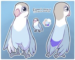 blue lovebird (alt. sona/mascot?? maybe??) by corvidcurse