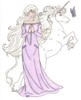 The Last Unicorn: Amalthea by Saphari