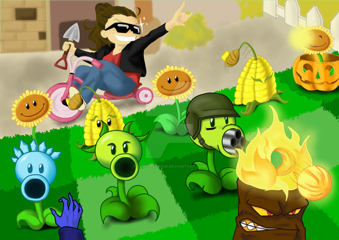 Me, playing Plants vs. Zombies by JudySparrow