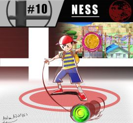 Super Smash Bros. Ultimate: #10 Ness by AydanADub1863
