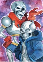Undertale: Papyrus and Sans by ElfenCeres