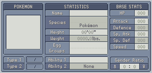 Fakedex Entry Template Blue by Wooded-Wolf