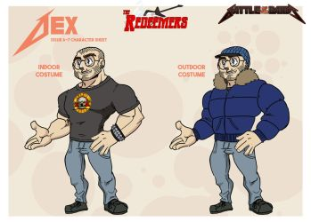 Battle of the Bands character designs - Dex by wheretheresawil